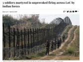 印巴在克什米尔再起冲突,巴基斯坦3名士兵死亡