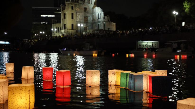 廣島民眾悼念原子彈轟炸死難者 呼喚和平