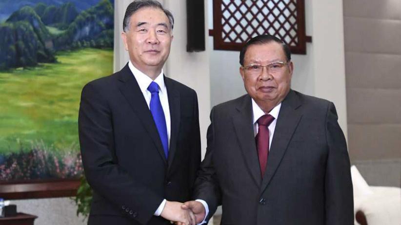 汪洋对老挝进行正式访问