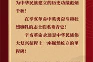 习近平在纪念辛亥革命110周年大会上的讲话金句